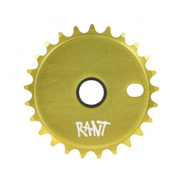 COURONNE BMX RANT STICK'EM LEMON GREEN 25T