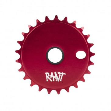 COURONNE BMX RANT STICK'EM RED 25T