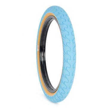 BMX TIRE RANT SQUAD BLUE TAN WALL