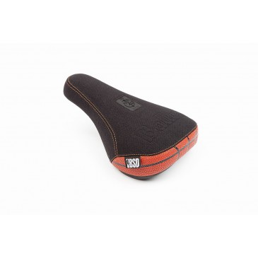 SELLE BMX BSD PIVOTAL BALLER BLACK / ORANGE