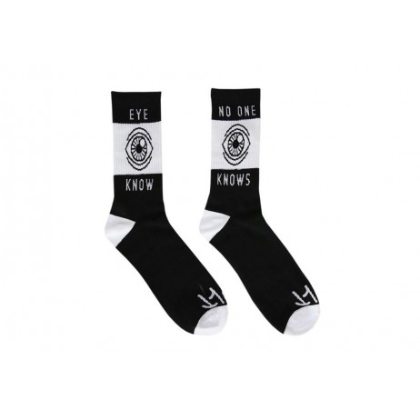 CHAUSSETTES CULT EYE KNOW BLACK