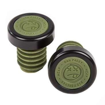 EMBOUTS DE POIGNEES BMX BSD MCAPS ALU/PC SURPLUS GREEN