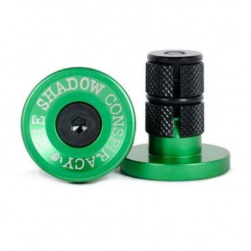 EMBOUTS GUIDON SHADOW DEADBOLT ALU PHANTOM GREEN