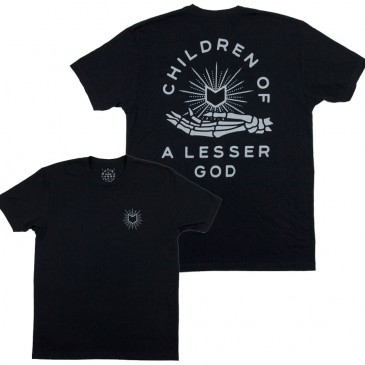 TSHIRT MUTINY LESSER GOD BLACK