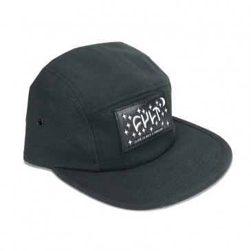 CASQUETTE CULT 5 PANELS DREAM LEATHER PATCH BLACK