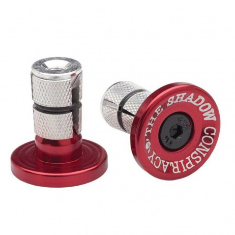 EMBOUTS GUIDON BMX SHADOW DEADBOLT ALU ROUGE