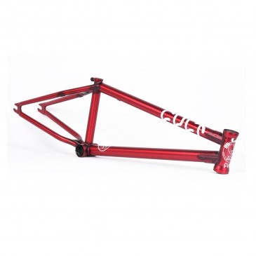 CADRE BMX CULT OLLIE SHIELD MATTE TRANS RED
