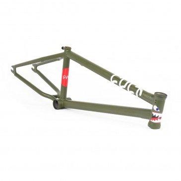 CADRE BMX CULT HAWK V3 OLIVE GREEN  (Walsh Colorway)